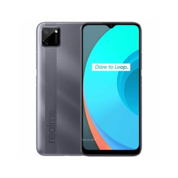 "Смартфон Realme C11 (сив), поддържа 2 sim карти, 6.5"" (16.51 cm) IPS LCD дисплей, осемядрен MediaTek Helio G35 2.3 GHz, 3GB RAM, 32GB Flash памет (+ microSD слот), 13.0 + 2.0 & 5.0 Mpix камера, Android, 196 g. image"