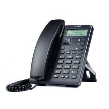 "VoIP телефон Mitel (Aastra) 6863i, 2.75"" (6.98 cm) монохромен дисплей, 2 SIP линии, PoE, 2x 10/100, черен  image"