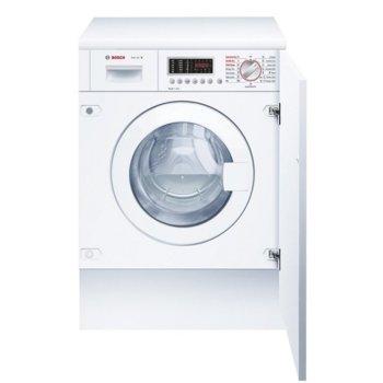 Пералня със сушилня Bosch WKD28541EU, клас B, 7 кг. капацитет пералня/4 кг. капацитет сушилня, 1400 оборота в минута, за вграждане, 60 cm. ширина, AquaStop, AquaSpar, дисплей, бяла  image
