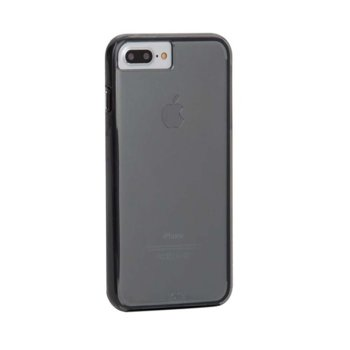 Калъф за Apple iPhone 6/6S/7 Plus, страничен протектор с гръб, термополиуретанов, CaseMate Naked Tough, черно-прозрачен image