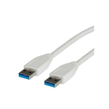 Кабел Roline 11.99.8975, USB 3.0 A(м) към USB А(м), 1.8m, бял image