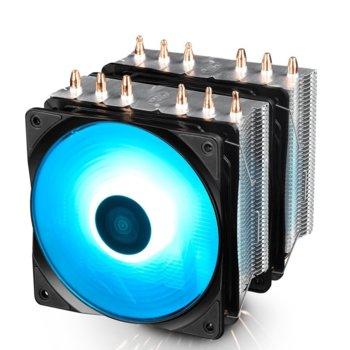 Охлаждане за процесор DeepCool NEPTWIN RGB, съвместимост с Intel LGA 1151/1150/1155/1366/2066/2011-v3/2011/775 & AMD AM4/FM2+/FM2/FM1/AM3+/AM3/AM2+/AM2, RGB подсветка image