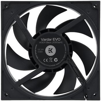Вентилатор 140mm, EKWB EK-Vardar EVO 140ER Black BB (EKWB3830046999900), 4-pin, 2000rpm, черен image