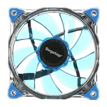 Вентилатор 120mm Segotep Polar Wind Blue LED, 3-pin, 1100rpm image