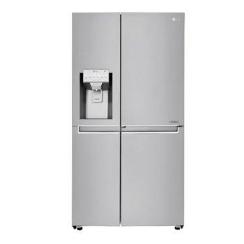Хладилник с фризер LG GSJ961NEBZ, клас F, 601 л. общ обем, свободностоящ, 376 kWh/годишно, LED осветление, диспенсър, Total No Frost, инокс  image