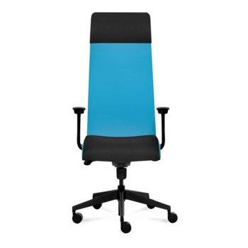 Президентски стол Tronhill Solium Executive (ON4010200040), дамаска и меш, 120 кг. максимално натоварване, 5 заключващи се работни позиции, светлосин image