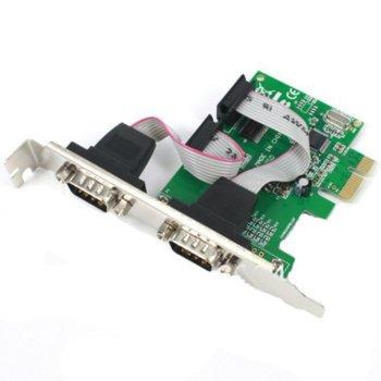 PCI-Е към 2x Serial RS232 (17555) image