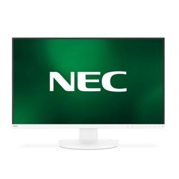 """Монитор NEC MultiSync EA271Q White (EA271Q-WH), 27"""" (68.58 cm) PLS панел, QHD, 6ms, 1000:1, 350 cd/m2, DisplayPort, HDMI, DVI-D, USB-C image"""