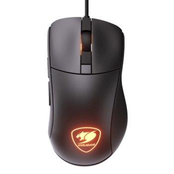 Мишка Cougar Surpassion ST, оптична (3200 dpi), RGB подсветка, 1.8 m кабел, USB, черна image
