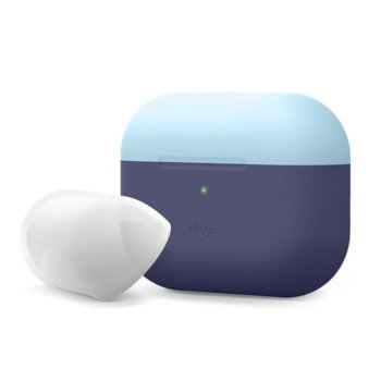 Калъф за слушалки Elago Duo Silicone EAPPDO-JIN-PBLLU, за Apple AirPods Pro, силиконов, син-светлосин image