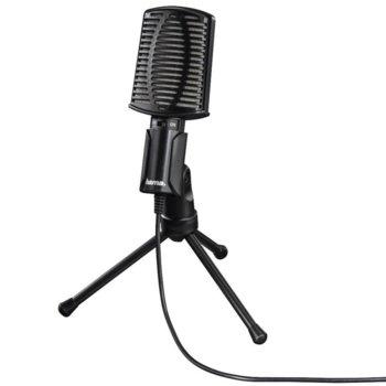 Микрофон Hama MIC-USB Allround, USB, трипод, 2m кабел, черен image