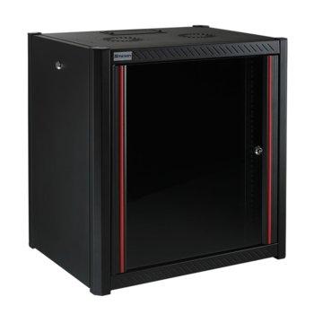 """Комуникационен шкаф Mirsan MR.WTN07U56.01, 19"""", 7U, 600 x 560 x 423 мм, за монтаж на стена, черен image"""