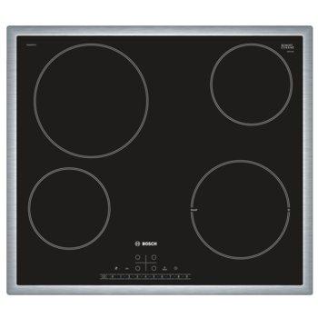 Стъклокерамичен плот за вграждане Bosch PKE 645 FP 1E, 4 нагревателни зони, 17 степени на мощност, ReStart функция, TopControl дисплей, черен  image