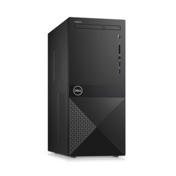 Настолен компютър Dell Vostro 3671 MT (N112VD3671EMEA01_R2005_22NM), шестядрен Coffee Lake Intel Core i5-9400 2.9/4.1 GHz, 8GB DDR4, 256GB SSD, 2x USB 3.1 Gen 1, клавиатура и мишка, Windows 10 Pro image