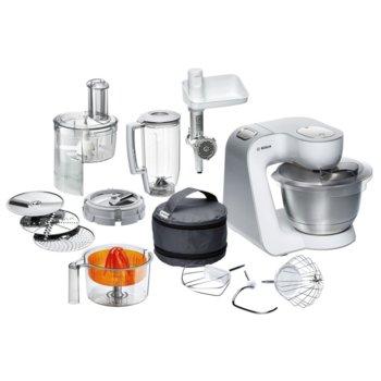 Кухненски робот Bosch MUM 54251, XXL купа, LED дисплей, 900W, бял image