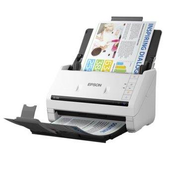 Скенер Epson WorkForce DS-530N, 600 x 600 dpi, A4, двустранно сканиране, ADF, USB 3.0, LAN 10/100/1000 Base-T image