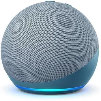 Смарт колонка Amazon Echo Dot 4 Charcoal, 3W, микрофон, Wi-Fi, Bluetooth, AUX, гласов асистент, синя image