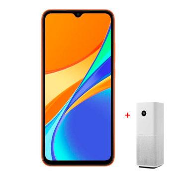 """Смартфон Xiaomi Redmi 9C NFC (оранжев)в комплект с пречиствател на въздух Xiaomi Mi Air Purifier Pro, поддържа 2 sim карти, 6.53"""" (16.586 cm) HD+ IPS, осемядрен MediaTek Helio G35 2.3GHz, 2GB RAM, 32GB памет(+mSD слот), 13+2MP & 5MPix камера, Android image"""