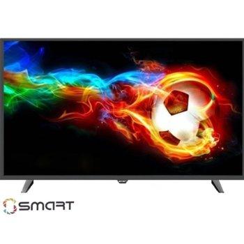 "Телевизор Axen AX40DAL13, 40"" (101.6 cm) LED Smart TV, Full HD, DVB-Т2/C/S2, Wi-Fi, LAN, 3x HDMI, 2x USB image"