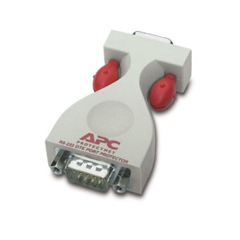 Surge protector APC ProtectNet standalone for Serial RS232 lines (9 pin female to male), DTE image