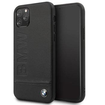Калъф за Apple iPhone 11 Pro Max, естествена кожа, BMW Genuine Leather BMHCN65LLSB, черен image