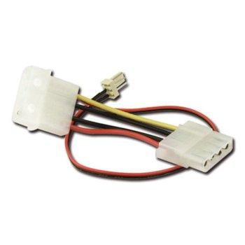 Захранващ кабел VCom CE316-0.2m, Molex(ж/м) към Fan 3pin(м), 0.2m image