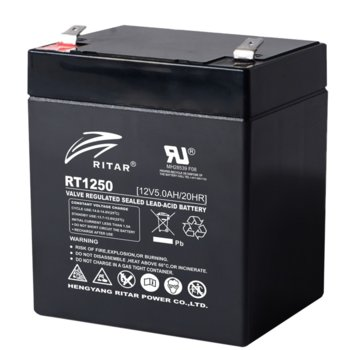 Акумулаторна батерия Ritar Power RT1250, 12V, 5Ah, AGM image