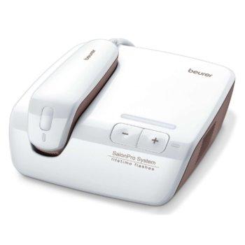 Фотоепилатор Beurer IPL 10000+, за третиране на цяло тяло, 250 000 светлинни импулса, сензор при допир, сензор за тон на кожата, 6 степени на скорост, 1x приставка за прецизна употреба, бял/златист image