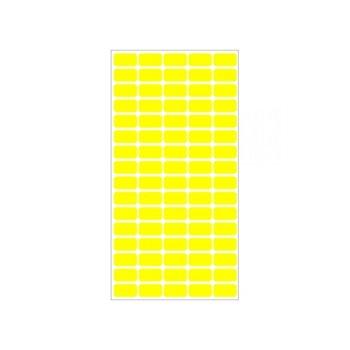Етикети за цени Fleks-Ko, размер 22x12mm, 800бр, жълти image