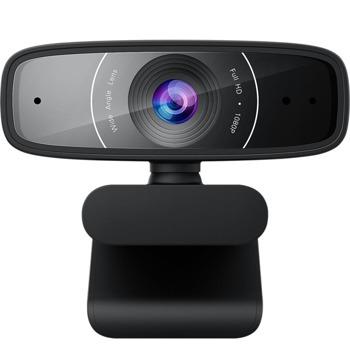 Уеб камера Asus Webcam C3, микрофон, 1920x1080 / 30FPS, микрофон, USB, черна image