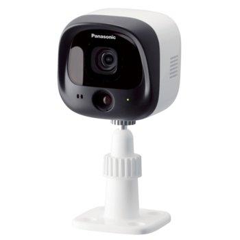 """Камера Panasonic KX-HNC600FXW, за система """"умен дом"""" за контрол в дома, безжична, 0.3Mpix(640x480), засича движение, вградени микрофон и говорител, нощен режим, външен/вътрешен обхват 300/50м, microSDHC слот, външна IP55 image"""