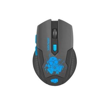 Мишка Fury STALKER, оптична (2000dpi), безжична, 6 бутона, USB, черна, гейминг image