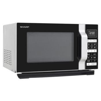 Микровълнова фурна Sharp R260S, електронно управление, 800W, 20L, 5 нива на мощност, черен инокс image