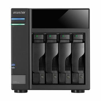 "Мрежови диск (NAS) Asustor AS6004U, без твърд диск (4x (2.5""/3.5"" SATA or SSD)), 2x USB 3.1 Gen-1 image"