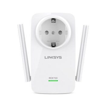 Extender/Екстендър + Бридж, Linksys RE6700, AC1200 Dual-Band Wireless, 1 x 10/100 Ethernet Port, 2 външни антени image