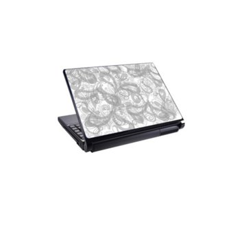 Декорация /скин/ Fullmark LS0022, за лаптопи до 26.7 x 39.37cm, бяло-сив image