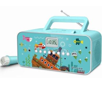 Радио MUSE M-29 KB CS, CD/CD-R/CD-RW/MP3, FM, синьо image
