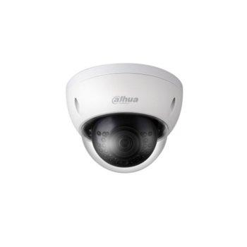 IP камера Dahua IPC-HDBW1420E-0360B, куполна, 2 Mpix(2688x1520@20FPS), 3.6 mm обектив, H.264+/H.264, IR осветеност (до 30 метра), PoE, вандалоустойчива IK10, IP67 защита от вода, RJ-45 image