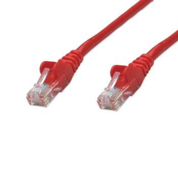 Пач кабел Intellinet 319843, UTP, Cat.5e, 5м, червен image