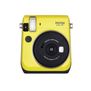 Фотоапарат Fujifilm Instax Mini 70 (жълт), моментални снимки, светкавица, пейзаж image