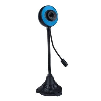 Уеб камера Kisonli PC-12, микрофон, 640x480 / 30fps, автоматичен баланс на бялото, USB, черна image