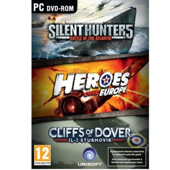 Игра Ubisoft War Pack, Включва : Silent Hunter 5: Battle of the Atlantic, Heroes over Europe, IL-2 Sturmovik: Cliffs of Dover; за PC image