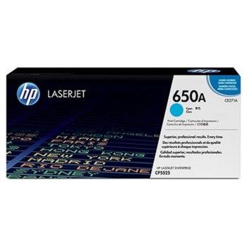 КАСЕТА ЗА HP Color LaserJet CP5520 - Cyan - 650A - P№ CE271A - заб.: 15 000k image