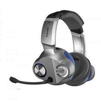 Слушалки Somic Easars Trap EH976, микрофон, гейминг, 8 високоговорителя,, 40мм високоговорители, 20Hz - 20KHz честотен диапазон, USB, сиви image