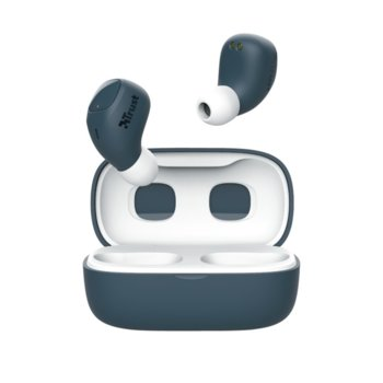 Слушалки TRUST Nika Compact, безжични, Bluetooth, микрофон, до 8 часа време на работа, сини image