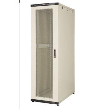 """Комуникационен шкаф Lande LN-CS22U6010-BL, 19"""", 22U, 600 x 1000 мм, перфорирана врата, LCD термометър, черен image"""