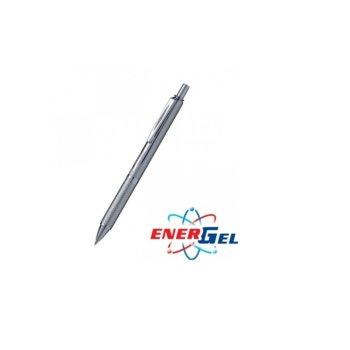 Автоматичен ролер Pentel BL407, черен цвят на писане, дебелина на линията 0.7 mm, гел, сребрист image