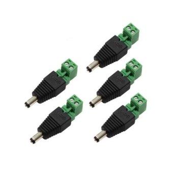 Захранваща букса (женска) за 12VDC камери, клема с бутони, 5 бр. image