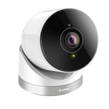 IP камера D-Link Full HD 180° Panoramic Camera, 2 Mpix(1920x1080@30FPS), външна, безжична, вдоустойчива IP65, нощно виждане(до 10м), Wi-Fi, LAN, microSD/SDHC/SDXC, Bluetooth image