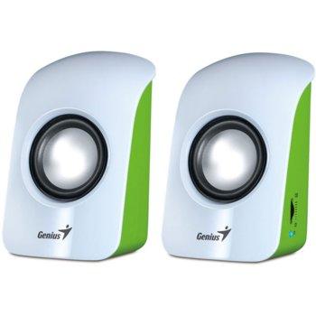 Тонколони Genius SP-U115, 2.0, RMS 3W (1.5W + 1.5W), USB, бели, преносими, USB захранване image
